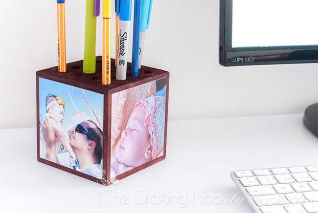 Photo-Wooden-Block-Pencil-Holder-Memories