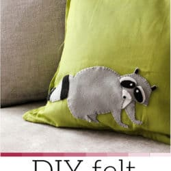 cute DIY Felt Raccoon Pillowcase