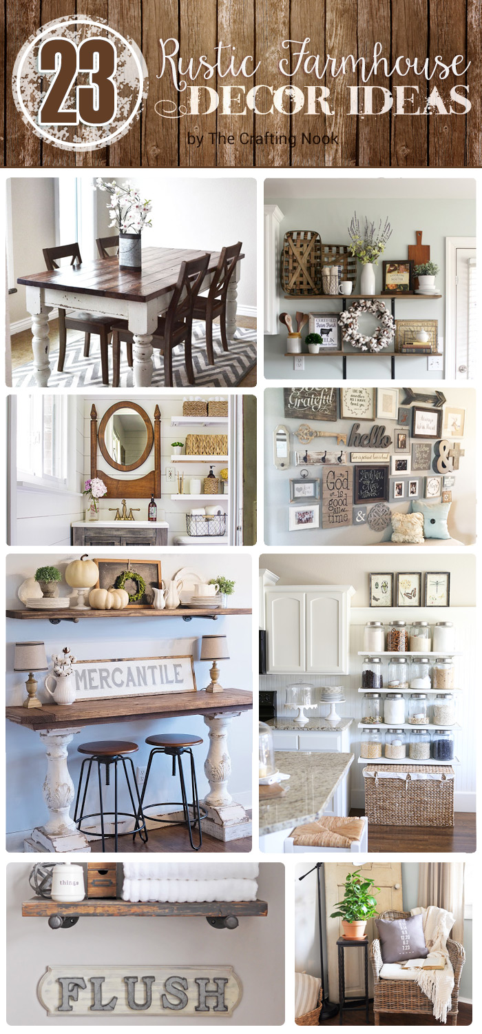 23 Rustic Farmhouse Decor Ideas The Crafting Nook
