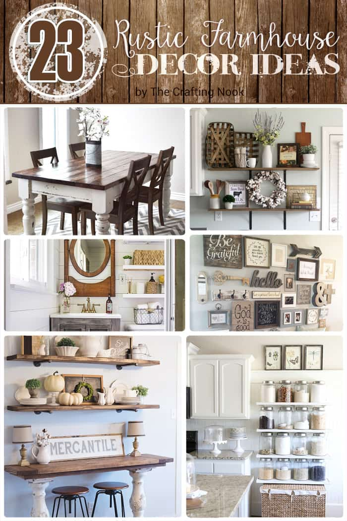 23 Rustic Farmhouse Decor Ideas The Crafting Nook By