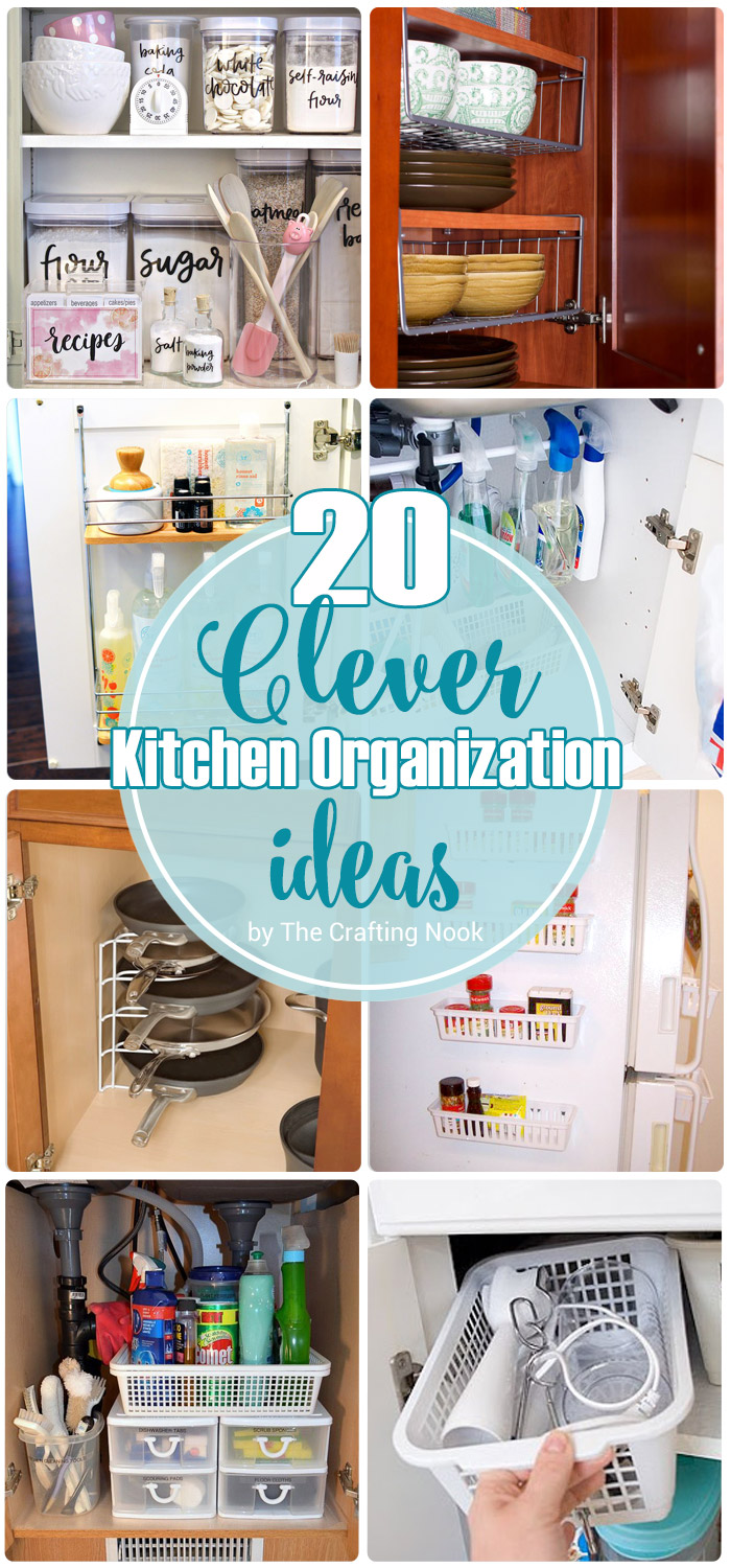 Clever Kitchen 20 Clever Kitchen Organization Ideas The Crafting Nook By Titicrafty
