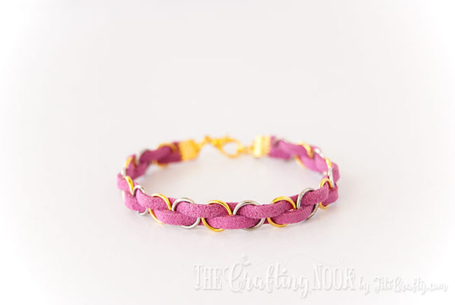 DIY-Easy-Braided-Bracelet-Pink