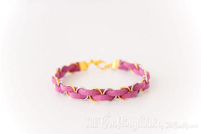 DIY-Easy-Braided-Bracelet-Pink