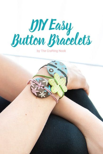 Cute DIY Easy Button Bracelets