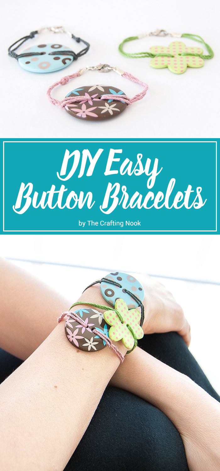 DIY Easy Button Bracelets