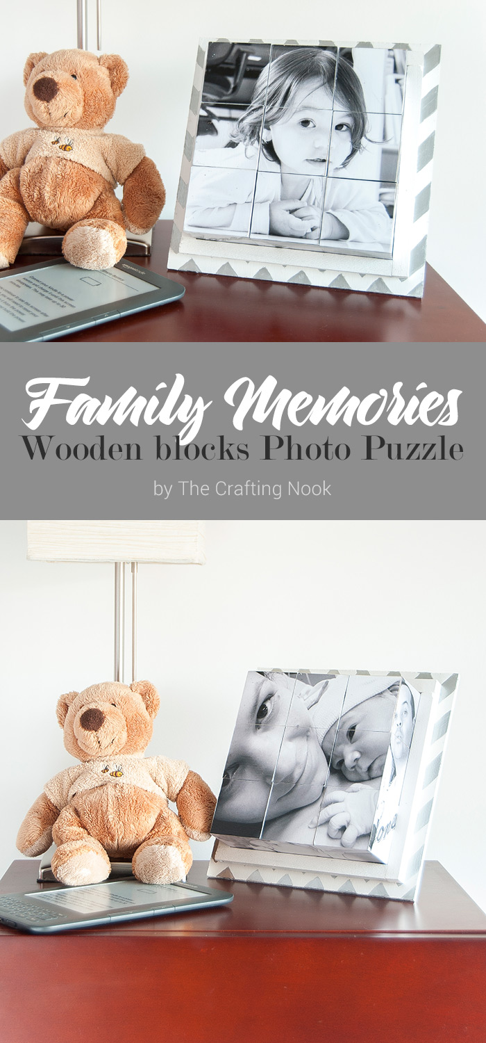 Family Memories Wooden Blocks Photo Puzzle