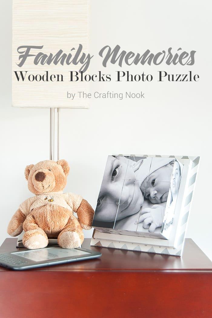 Cute Family Memories Wooden Blocks Photo Puzzle