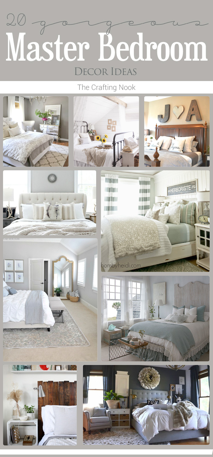 20 master bedroom decor ideas the crafting nook by for Master room decor ideas