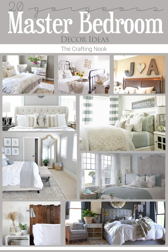 20 master bedroom decor ideas the crafting nook by for Master bedroom decor ideas 2016
