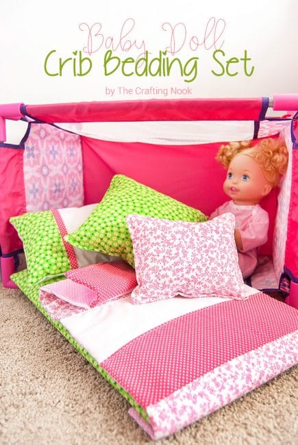 Cute DIY Baby Doll Crib Bedding set