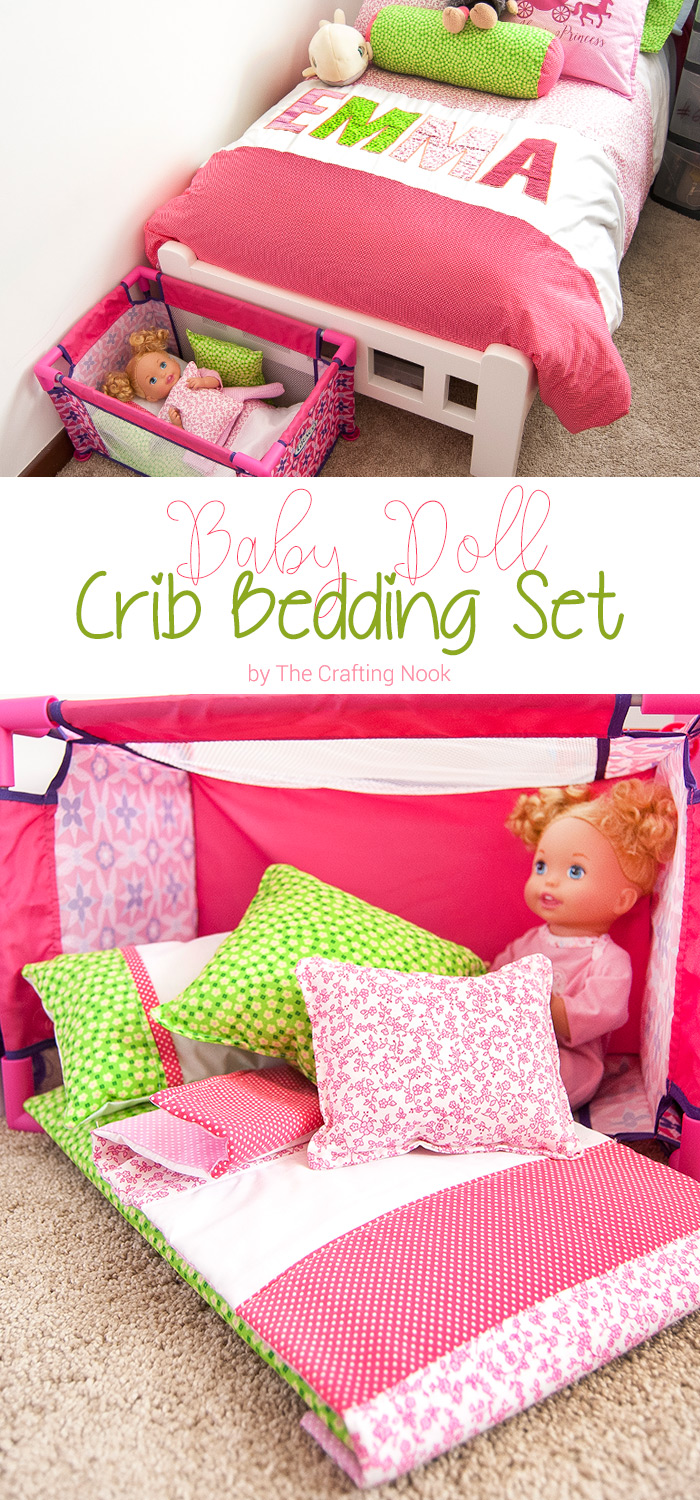 Diy Baby Doll Crib Bedding Set The Crafting Nook