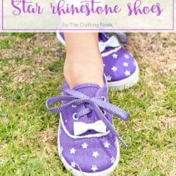 Cute DIY Embellished Star Rhinestone Shoes
