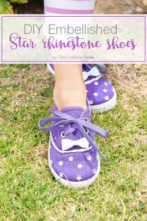 Cute DIY Embellished Star Rhinestone Shoes