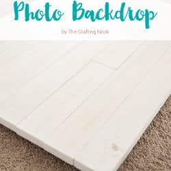 Easy DIY Pallet Photo Backdrop