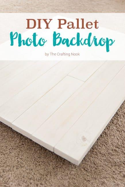 Easy DIY Pallet Photo Backdrop