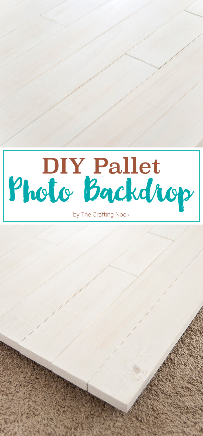 DIY Pallet Photo Backdrop