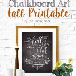 Free Chalkboard Art Fall Printable