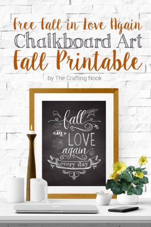 Free Chalkboard Art Fall Printable (Size Letter and A4 Available)