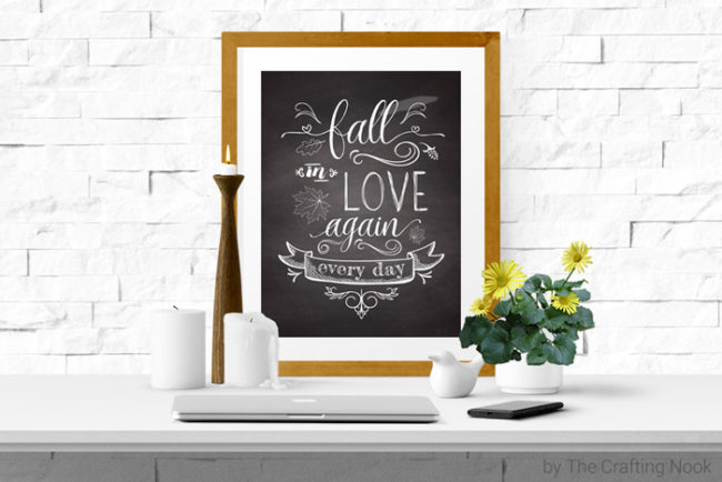 Fun Free Chalkboard Art Fall Printable