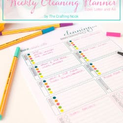 Fun Free Weekly Cleaning Planner Printable