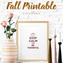 Free Keep Calm Fall Printable