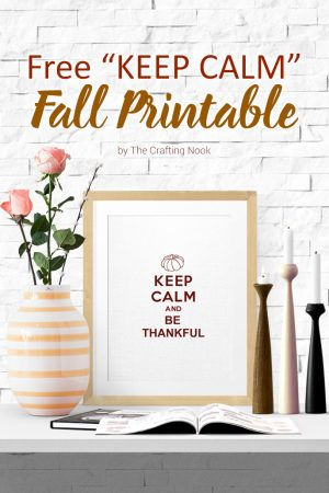 Free Keep Calm Fall Printable