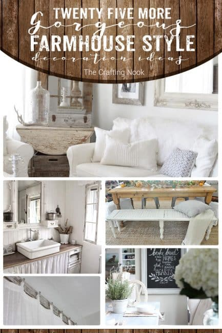 25 More Gorgeous Farmhouse Style Decoration Ideas for the Home
