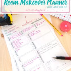 Helpful Free Room Makeover Planner Printable