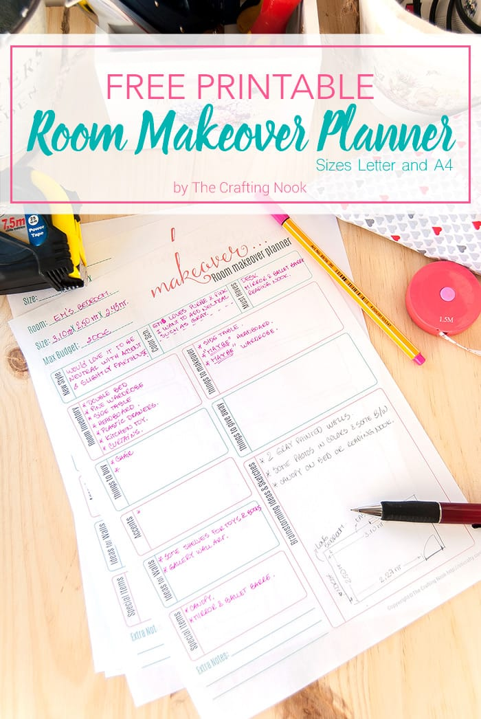 Free room makeover planner printable the crafting nook for Free room organizer