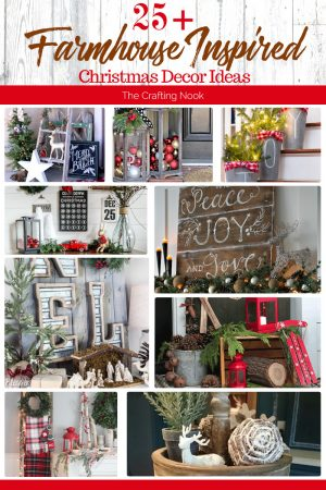 25+ Farmhouse Inspired Christmas Decor Ideas