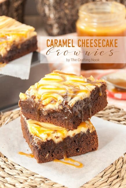 Delicious Salted Caramel Cheesecake Brownies