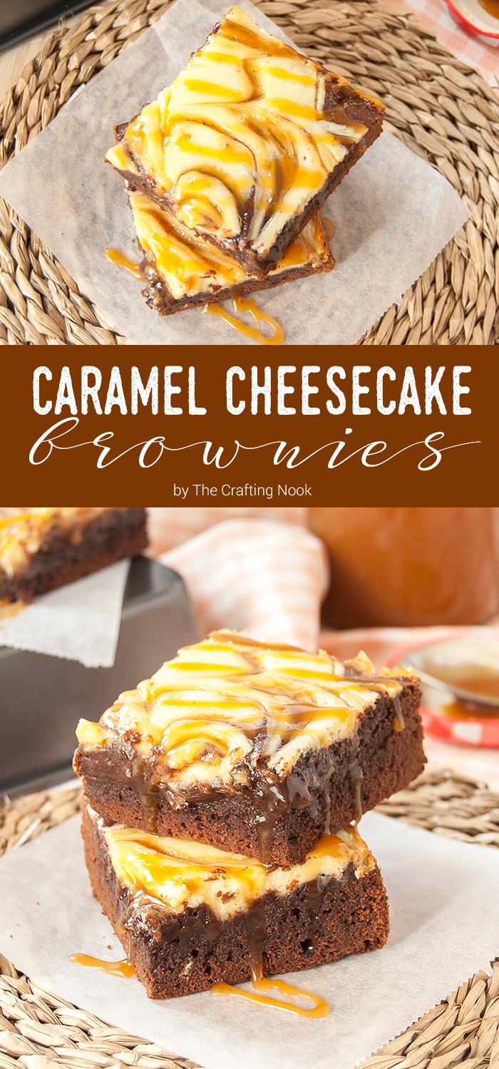Salted Caramel Cheesecake Brownies