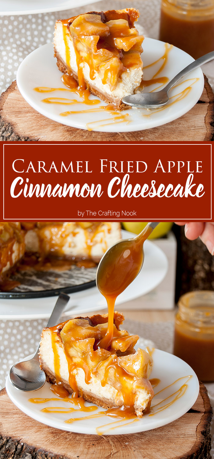 Caramel Fried Apple Cinnamon Cheesecake