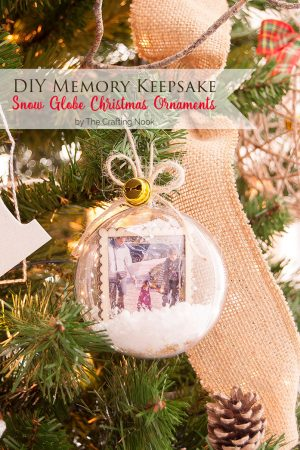 DIY Memory Keepsake Snow Globe Christmas Ornaments