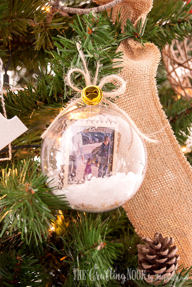 Diy Memory Keepsake Snow Globe Christmas Ornaments The