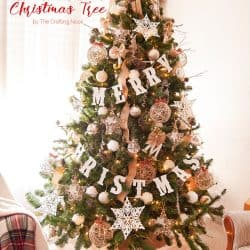 Our Neutral Rustic Christmas Tree