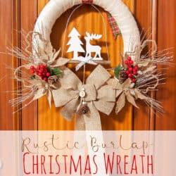 Easy DIY Rustic Burlap Christmas Wreath