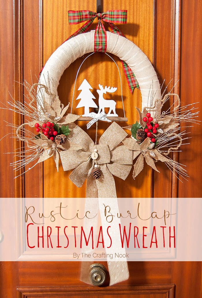 Easy DIY Rustic Burlap Christmas Wreath