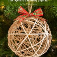 How to Make Twine Ball Christmas Ornament