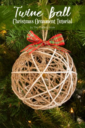 Twine Ball Christmas Ornament Tutorial