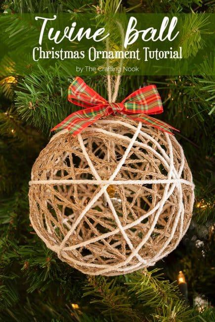 How to Make Twine Ball Christmas Ornament