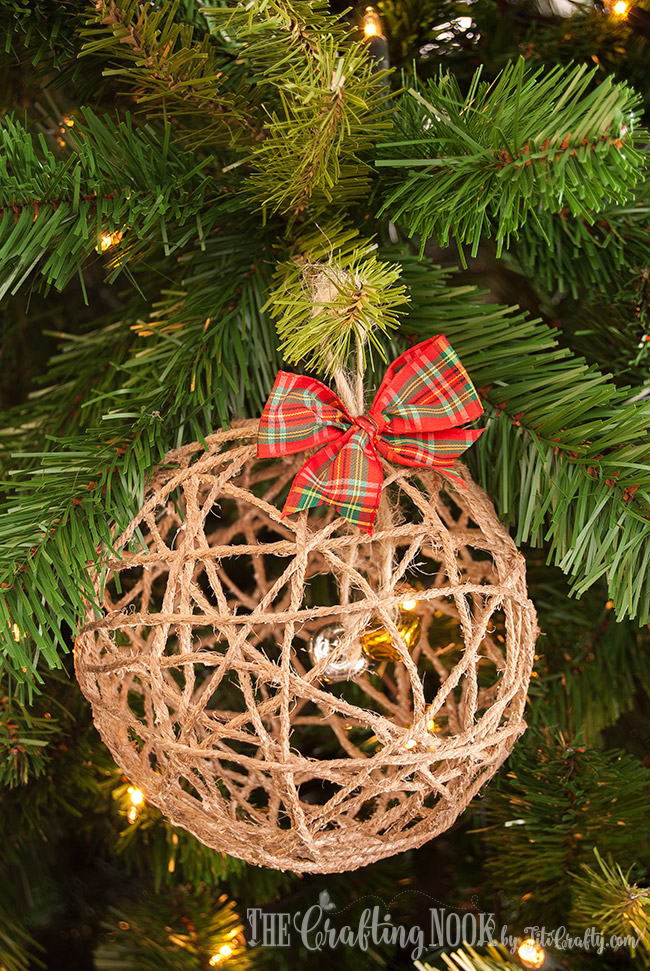 DIY Twine Ball Christmas Ornament