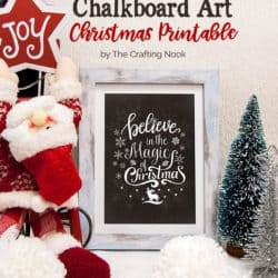 Cute FREE Chalkboard Art Christmas Printables