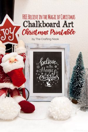 FREE Chalkboard Art Christmas Printables (Size Letter and A4)