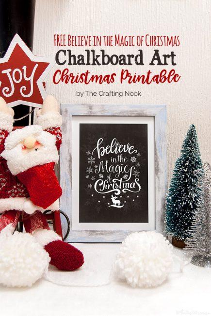 Cute FREE Chalkboard Art Christmas Printables