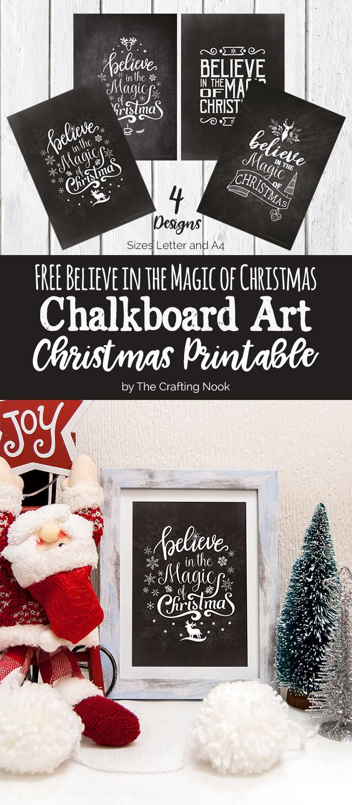 FREE Chalkboard Art Christmas Printables