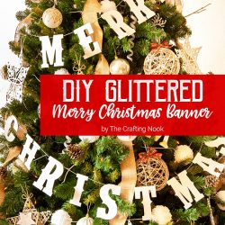 Cute DIY Glittered Merry Christmas Banner