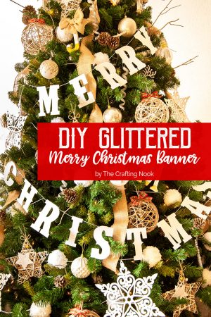 DIY Glittered Merry Christmas Banner + AWESOME SILHOUETTE GIVEAWAY