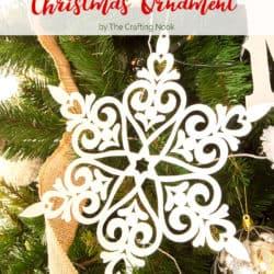 DIY Easy Glittered Snowflake Christmas Ornaments