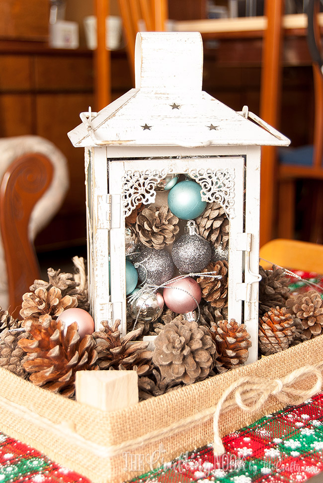Diy Rustic Christmas Lantern Centerpiece The Crafting Nook